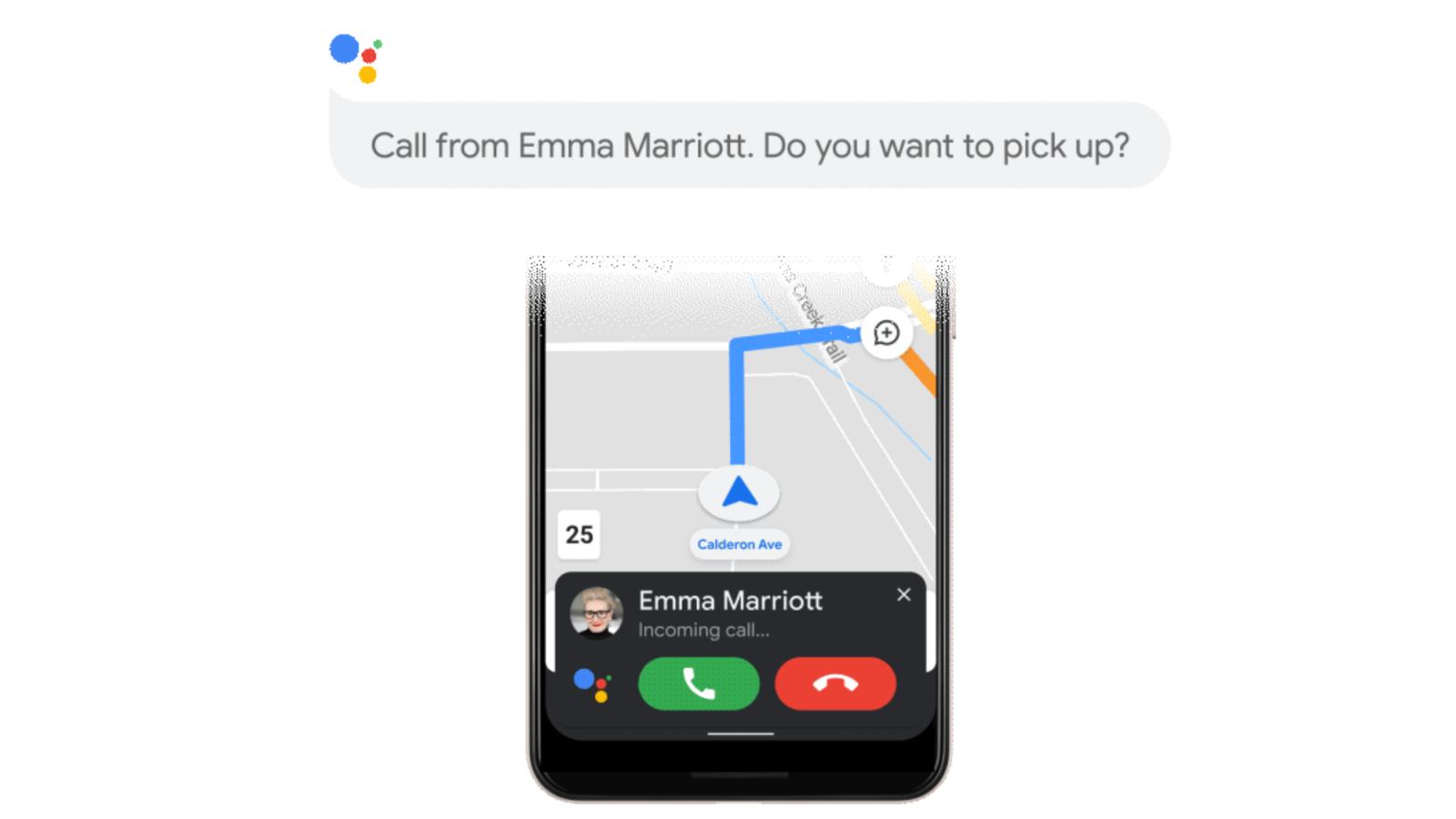 حالت رانندگی Google Assistant