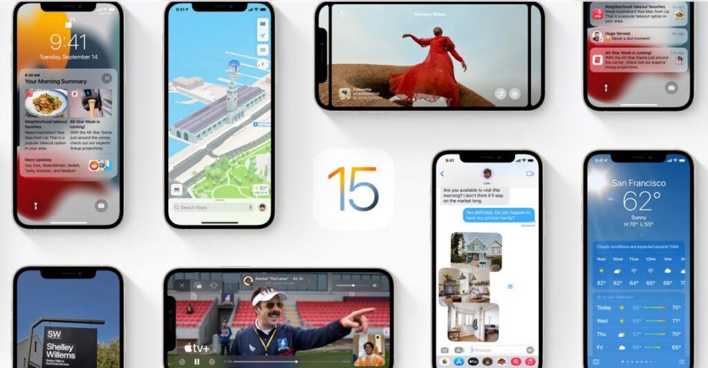 iOS 15 اپل